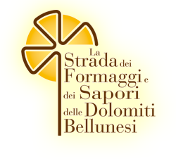 Home page of the website of 'The Road of Cheeses and Flavours of the Belluno Dolomites'